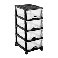 Montgomery 4 Drawer Storage Unit Without Wheels