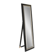 Stein 450 x 1600mm Black With Silver Trim Frame Milan Easel Mirror