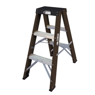 Rhino PRO 0.9m 150kg Fibreglass Double Sided Step Ladder