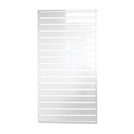 Protector Aluminium 900 x 1750mm Easy Screen Welded Slat Panel - Pearl White