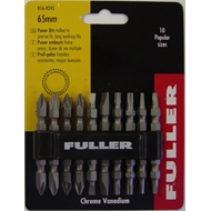 Fuller Power Bit Set  65mm  10pc