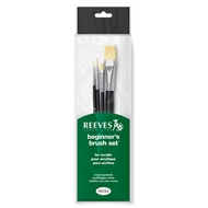 Reeves Set Of 4 Acrylic Short Handle Brush