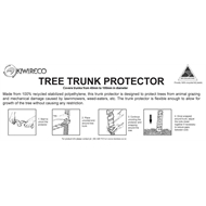 Kiwireco Tree Trunk Protector Coil 0.5m Black