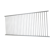 Protector Aluminium 2450 x 1200mm Palladium Silver Flat Top Pool Fence Panel