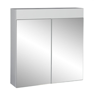 Stein 600 x 620mm Gloss White Oakridge Bathroom Cabinet With Mirror Doors