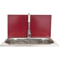 Dissco Laundry Splashback  565x300mm Red (Wineberry)