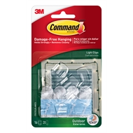 Command™ Clear Outdoor Light Clips With Foam Strips