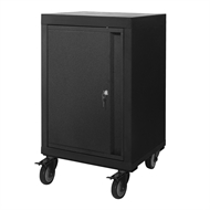 Pinnacle 810 x 520 x 500mm Matte Black Single Door Mobile Cabinet