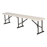 Marquee Almond Resin Folding Trestle Bench