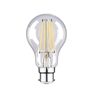 Luce Bella 6W 820lm Daylight A60 LED BC Globe - Twin Pack