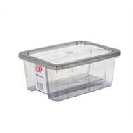 Ezy Storage 8L Grey Storage Tub