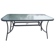 Marquee Glass Rectangular Dining Table
