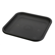 Interworld 35cm Square Saucer - Charcoal