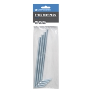 Campmaster 225mm Zinc Plated Tent Pegs - 4 Pack