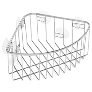 Aquamaid Suction Corner Basket Stainless Steel