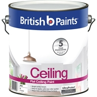 British Paints 4L Flat White Ceiling Paint