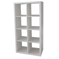 Clever Cube 2 x 4 White Storage Unit