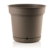 Eden 38cm Taupe Self Watering Hydral Pot With Saucer
