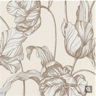 Graham & Brown 52cm x 10m Cream Harem Tulips Wallpaper