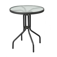 Marquee 600mm Glass and Steel Bistro Table