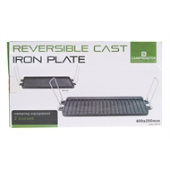 Campmaster 2 Burner Reversible Cast Iron Cooking Plate