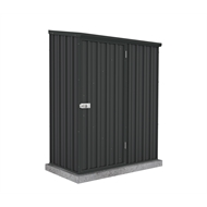 Absco Sheds 1.52 x 0.78 x 1.95m Space Saver Single Door Shed - Monument