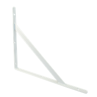 Carinya 400 x 350 x 25 x 3.5mm White Stayed Straight Bracket