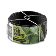 Whites PVC Wire Tie 1.60mm x 20m Black
