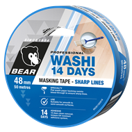 Bear 48mm x 50m Blue 14 Day Masking Tape