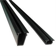 Peak Balustrade 1.2m Black Glass Panel Gasket