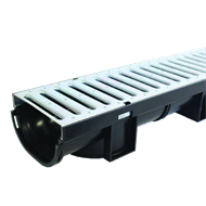 Everhard EasyDRAIN 1000 x 80mm Galvanised Channel And Grate