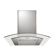 Bellini Curved Glass Stainless Steel Rangehood 600mm