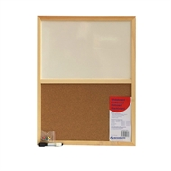 NBP 450 x 600mm Combi Cork And White Memo Board