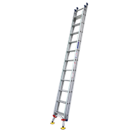 Indalex 3.8 - 6.6m 180kg Pro Series Extension Ladder With LevelArc