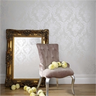 Graham & Brown Glimmerous Damask 52cmx10m Wallpaper Taupe