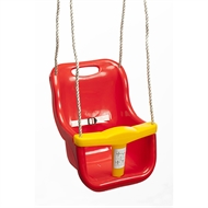 Swing Slide Climb Red Plastic Baby Swing Seat