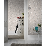 Superfresco Easy 52cm x 10m Karma Taupe/Charcoal Wallpaper