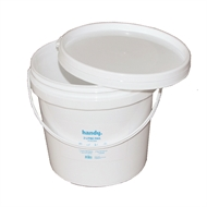 Handy 2L White Pail With Lid
