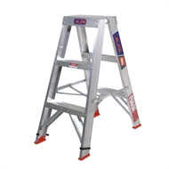 Alfa 0.9m 150kg Double Sided Aluminium Step Ladder