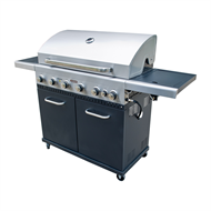 Jumbuck 6 Burner Hooded BBQ with Side Burner