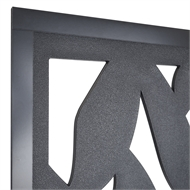 Matrix 1810 x 905 x 9mm Charcoal Tangle Decor Screen With Frame
