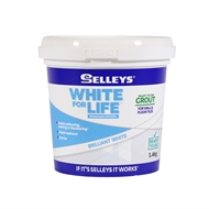 Selleys 1.4kg White For Life Grout Brilliant White Ready To Use
