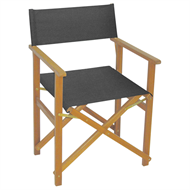 Mimosa Timber Directors Chair Charcoal