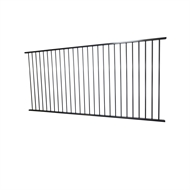 Protector Aluminium 2450 x 1200mm Black Flat Top Pool Fence Panel