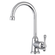 Mondella Chrome Maestro Goose Neck Lever Handle Basin Mixer - Suitable For Unequal / Mains Pressure