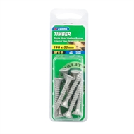 Zenith 14G x 50mm Galvanised Timber Bugle Head Batten Screw - 8 Pack