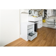Flexi Storage 740 x 573 x 430mm White Timber Frame 6 Runner Storage Unit