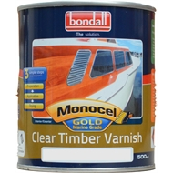 Bondall Monocel 500ml Clear Satin Gold Marine Grade Timber Finish