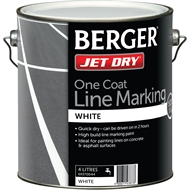 Berger Jet Dry 4L White Water Based One Coat Line Marking Paint