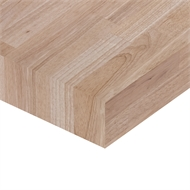 Kaboodle 2400 x 900 x 36mm Hevea Timber Benchtop